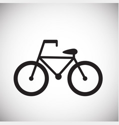 bicycle on white background vector image