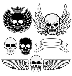 biker logos2 vector image