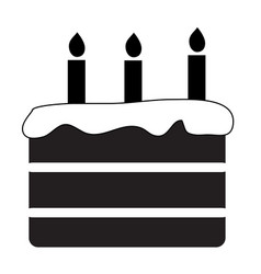 Birthday cake icon on white background flat style vector