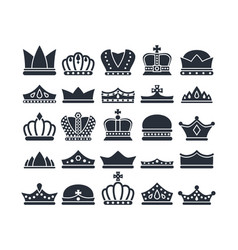 black crowns monarch luxury royal items vector image