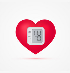 Blood pressure concept in realistic style vector