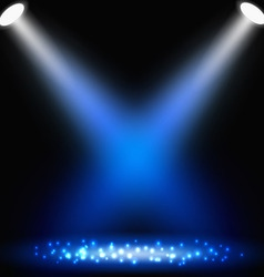 blue background with spotlights vector image
