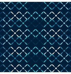 Blue metal grid abstract seamless pattern vector