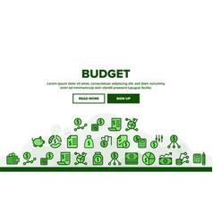 Budget audit landing header vector
