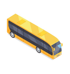 bus icon in isometric projection vector image