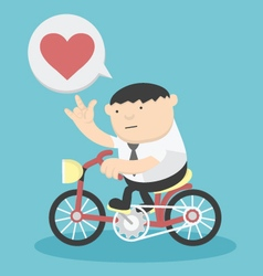 Business cycling show love vector image