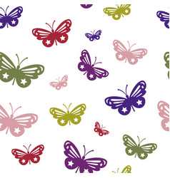butterfly texture vector image