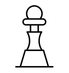 chess pawn piece icon outline style vector image