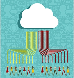 Cloud computing people concept vector image