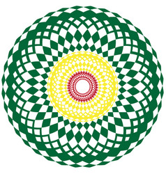 color image of unusual circles vector image