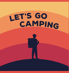 concept for a camping silhouette of vector image