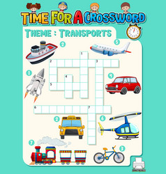 Crossword puzzle game template about vector