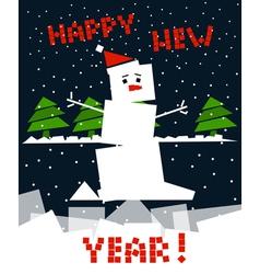 Cubic snowman vector