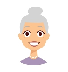 Cute granny vector image