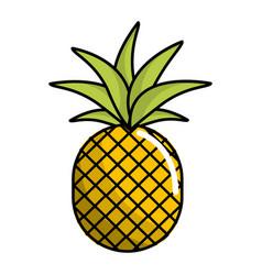 Delicious pineapple fruit icon vector