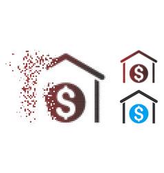 Dispersed pixel halftone money storage icon vector