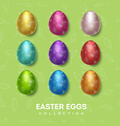 easter eggs collection color vector image