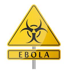 ebola danger yellow poster vector image