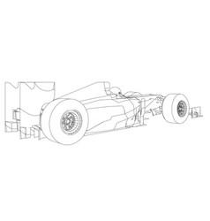 electric powered forklift concept car transport vector image