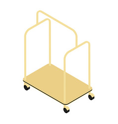 empty hotel luggage cart luggage trolley vector image