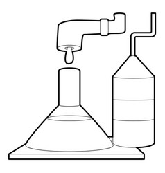 factory lab icon outline style vector image