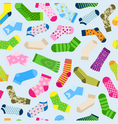 fashion colorful socks seamless pattern vector image
