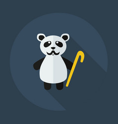 Flat modern design with shadow icons panda old man vector