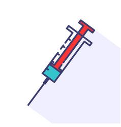 flat of syringe vector image