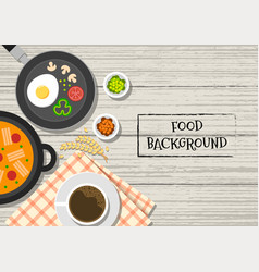 food background food dishes vector image