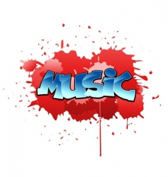Graffiti music background vector