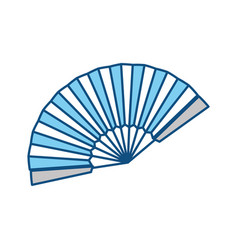 Hand fan isolated graphic vector
