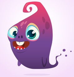 Happy cartoon pink and blue ghost vector image