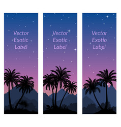 labels with palms vector image