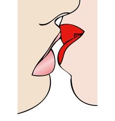 Lesbian Kiss vector image