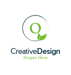 Letter o leaf naturally creative business logo vector