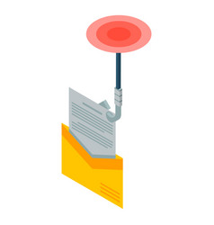Mail phishing icon isometric style vector