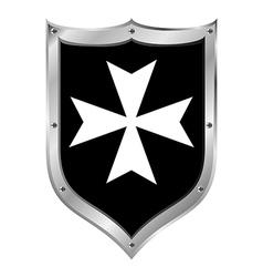 Medieval Shield Hospitaller Order vector image