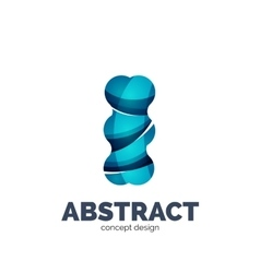 Modern abstract futuristic logo vector image