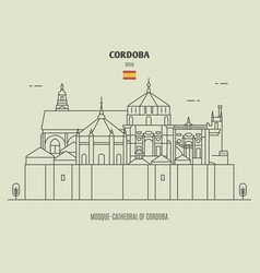 mosque-cathedral cordoba spain vector image