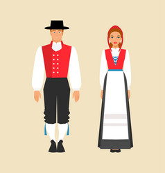 National costume norway vector