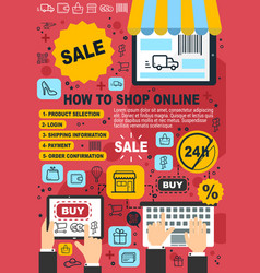 online shopping web store purchase guide vector image