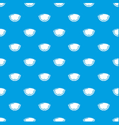 Oval lamp pattern seamless blue vector