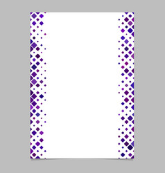 page template from purple diagonal rounded square vector image