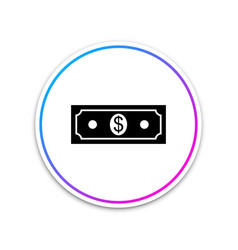 paper money american dollars cash icon isolated on vector image