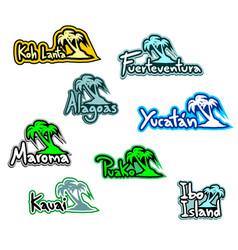 Paradises beaches vector