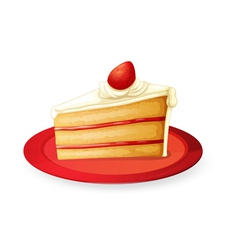 pastry in red dish vector image