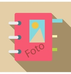 Photo album icon flat style vector