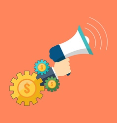 Promotion marketing concept Flat design stylish vector image vector image