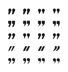 Quote and quotation marks icons vector