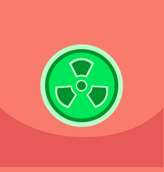 Radiation icon may present radiation threat or vector